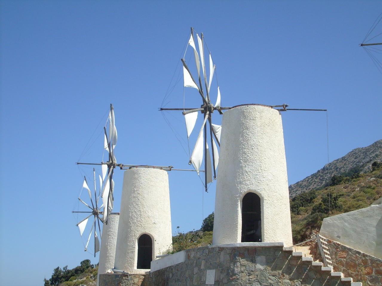 World Beautiful Girl Wallpaper Windmills The Stone Giants Of The Greek Land