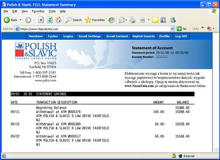 Credit Union E-statements Credit Union Online Statement PSFCU