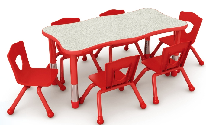 Qx 195b Adjustable Kids Plastic Study Table Children