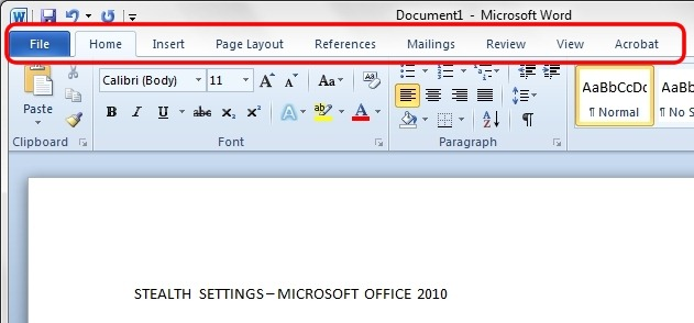 Works in Microsoft Office 2010 without a mouse Office Keyboard Tips