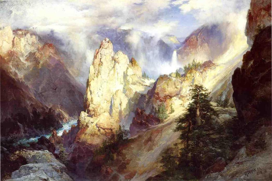 Fall Mountain Scenery Wallpaper Landscape 1898 By Thomas Moran 1837 1926 United Kingdom
