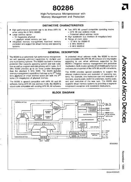 FileAMD 80286 Datasheet (November 1985)pdf - WikiChip