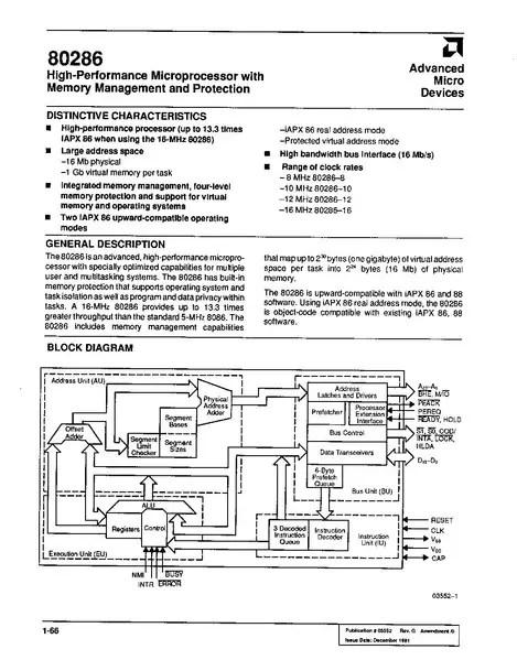 FileAMD 80286 Datasheet (December 1991)pdf - WikiChip