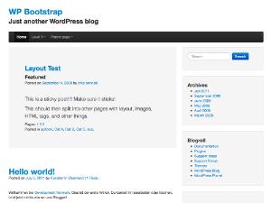The Bootstrap Screenshot
