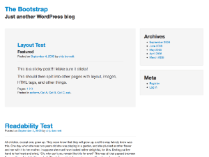 Screenshot of The Bootstrap WordPress Theme