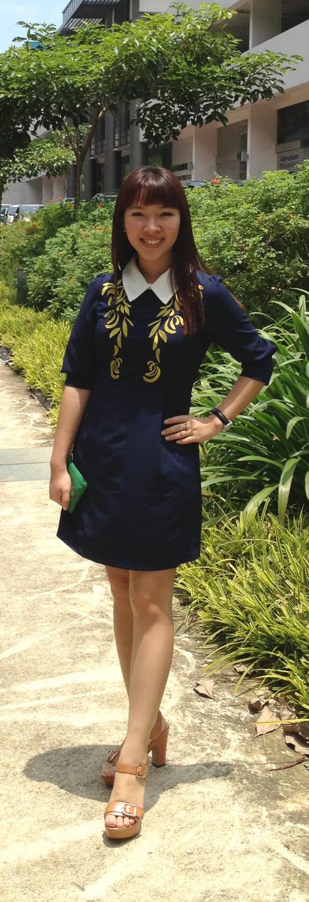 Pinterest Ena Teo Oasap Contrast Collar Embriodered Dress 1