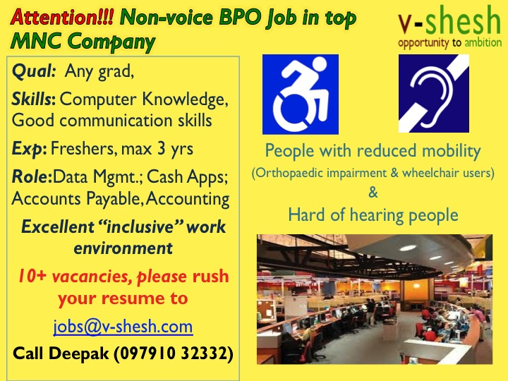 Jobs  Non-voice BPO Job in top MNC Company