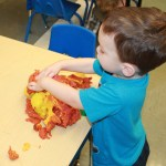 play doh sensory play seasonal autumn