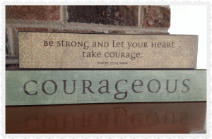 vintage block courageous from Mary and Martha