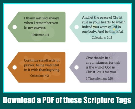 Scripture Tags about Thankfulness