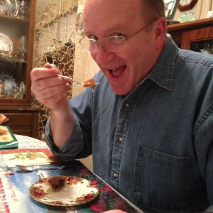Butter Tarts eating them