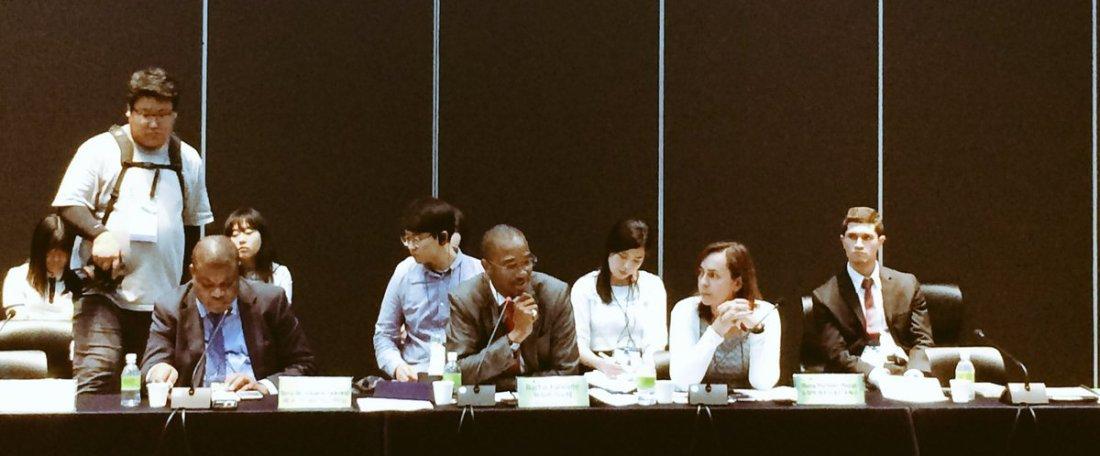 Le coordinateur d'enda ECOPOP M. Bachir Kanouté participe au  Forum Mondial des Villes pour les Droits Humains