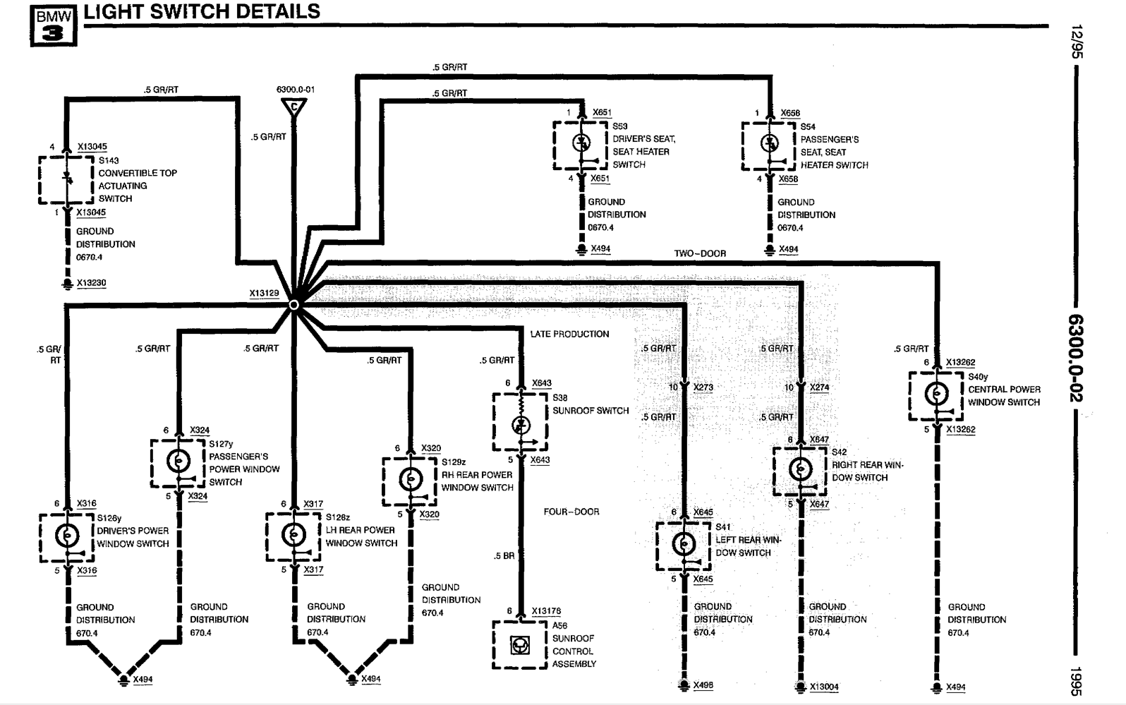 e36 headlight harness diagram
