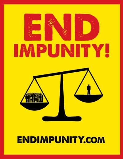 Get 2 Free End Impunity Posters | END IMPUNITY