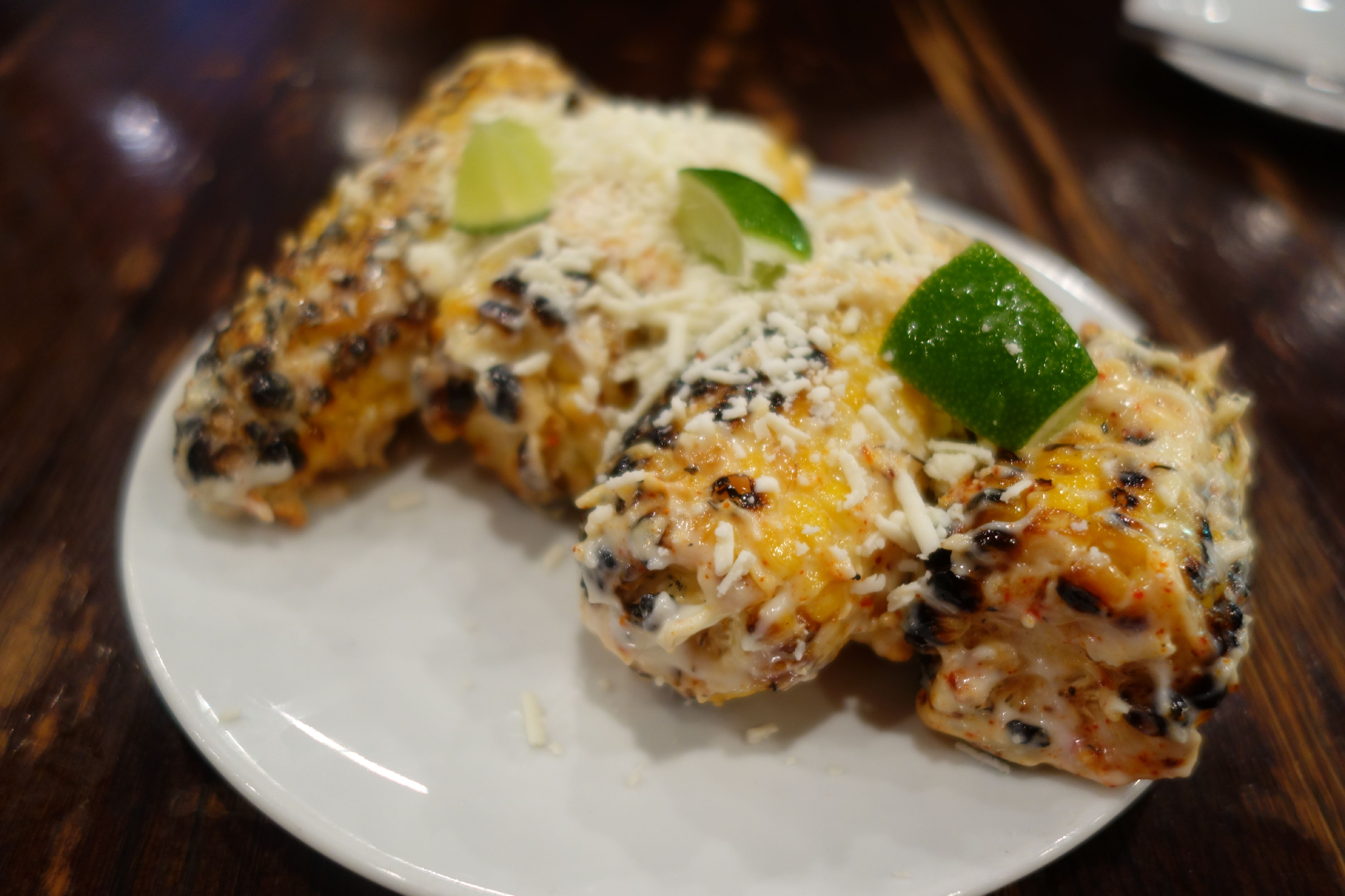 ... – Grilled Corn with Alioli, Lime, Espelette Pepper and Aged Cheese