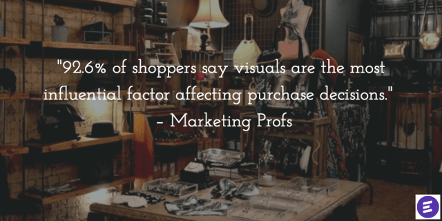 92% of shoppers say visuals are important decision maker