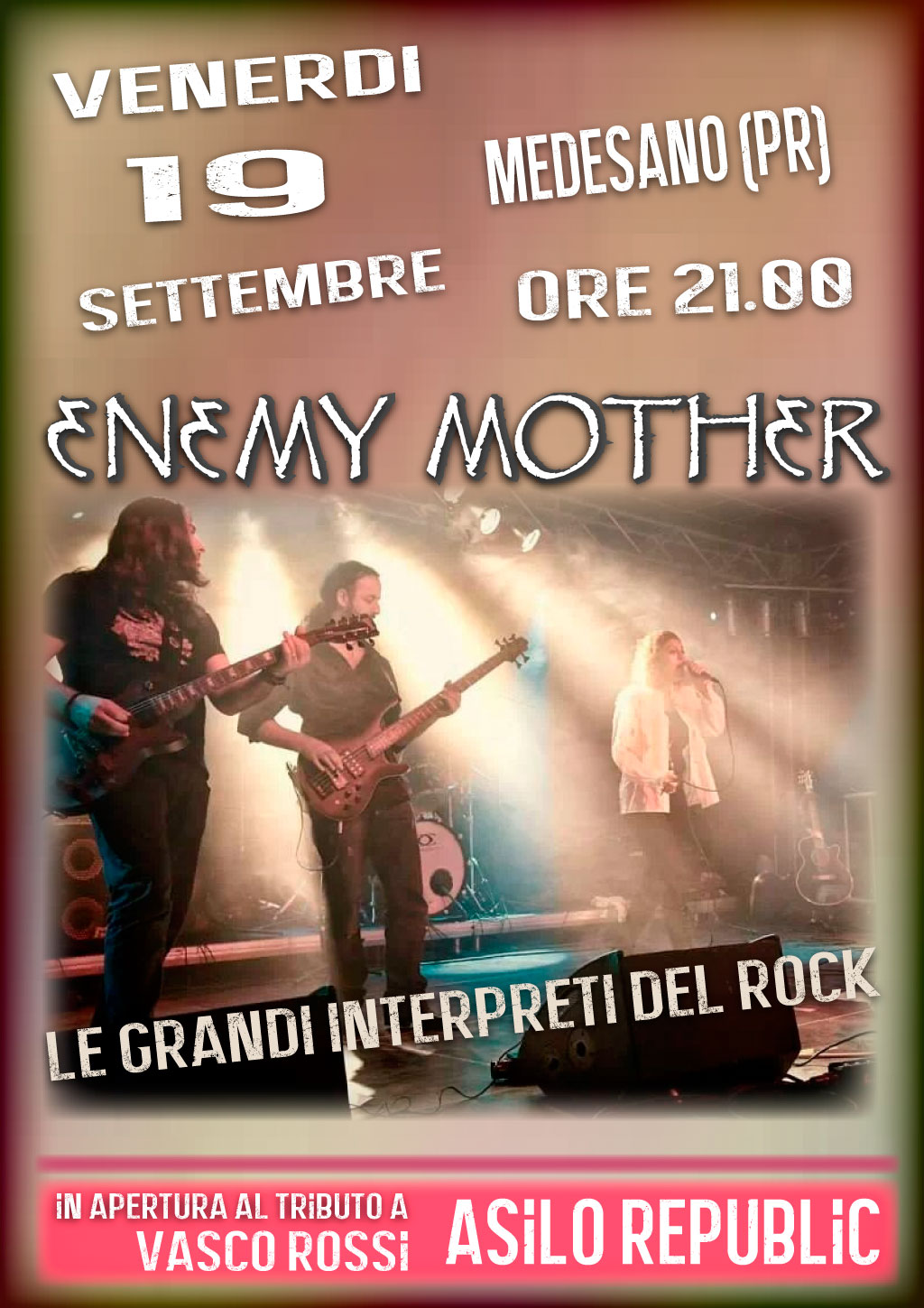 Vasco Asilo Republic Enemy Mother Cover Band Rock Al Femminile Concerti