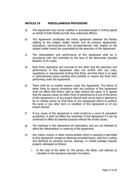 FileSri Lanka Draft Power Purchase Agreement (PPA) for Wind Power
