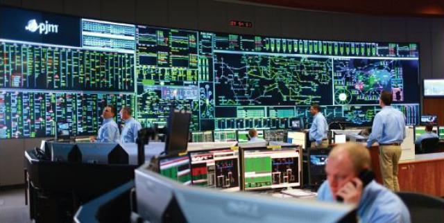 Control center room PJM