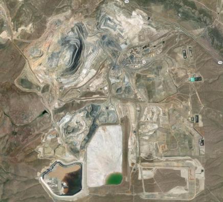 Gold mine near Carlin Nevada (from google earth)