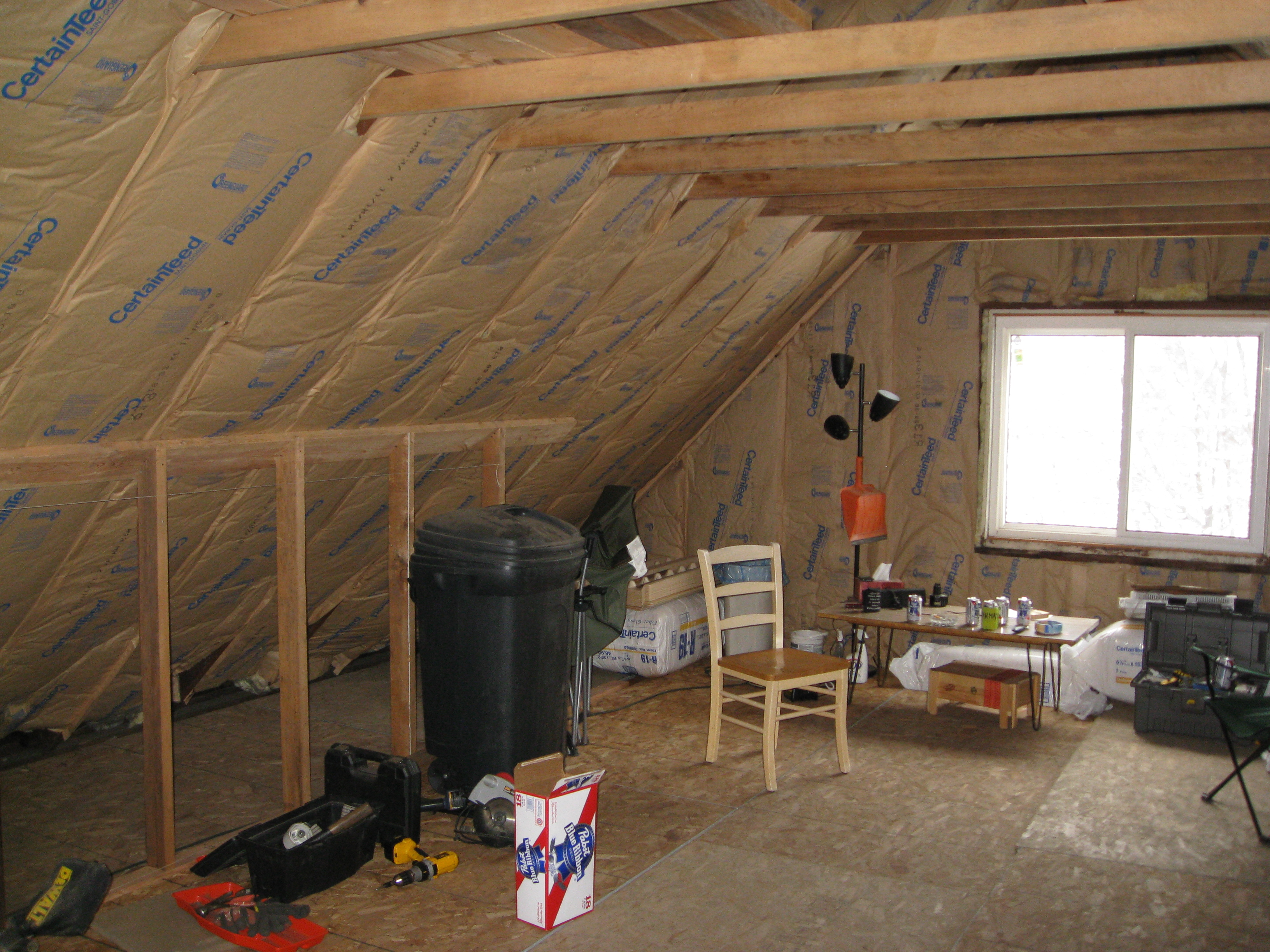 Garage Attic Air Conditioner How To Insulate And Ventilate Knee Wall Attics Energy Smart Home