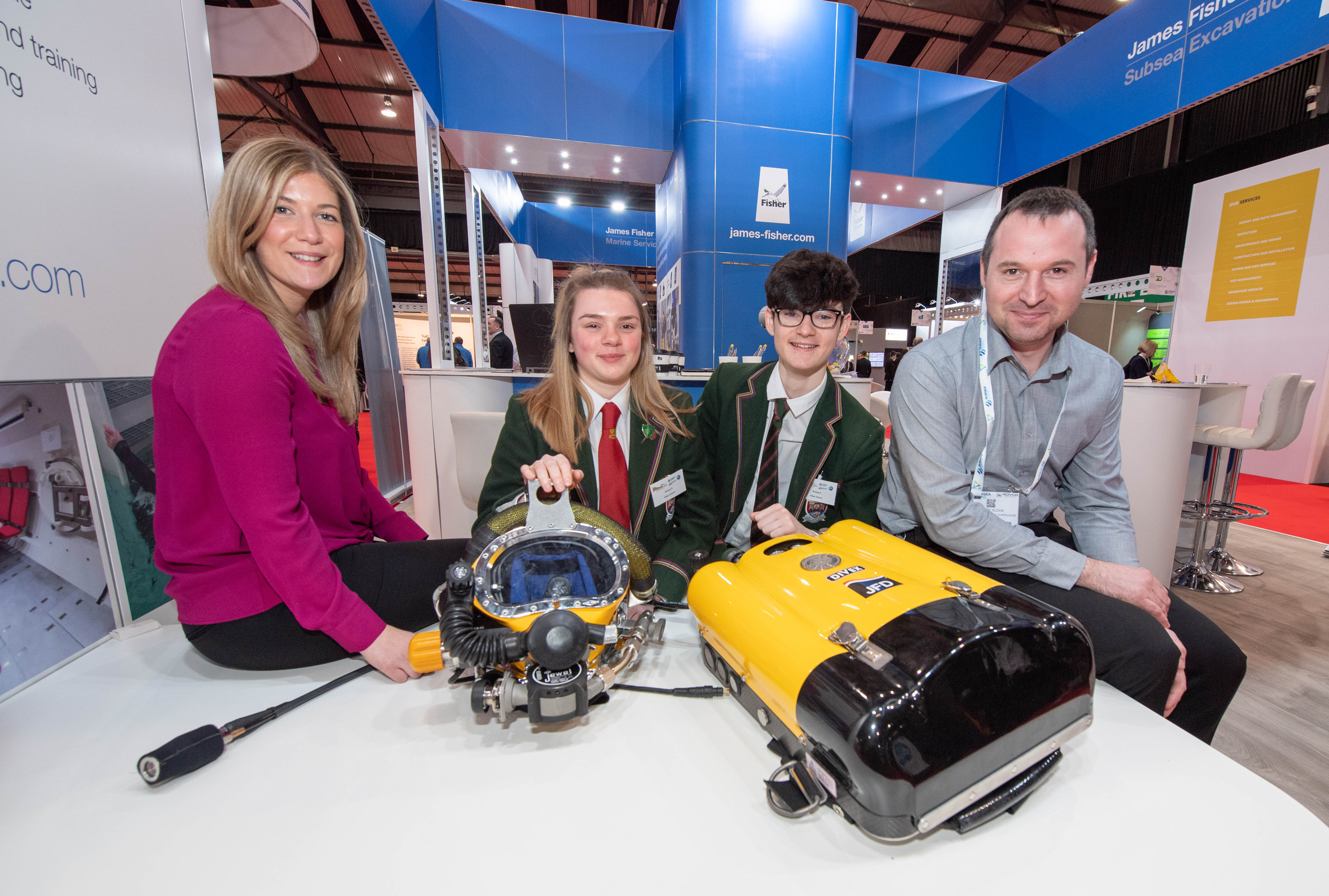Wednesday 6 February 2019 North East Students Dive Into Tech At Subsea Expo 2019 News For