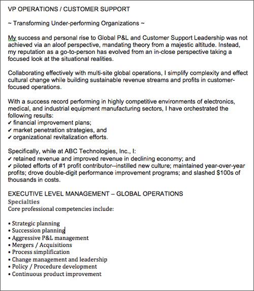 summary profile resume examples - Onwebioinnovate