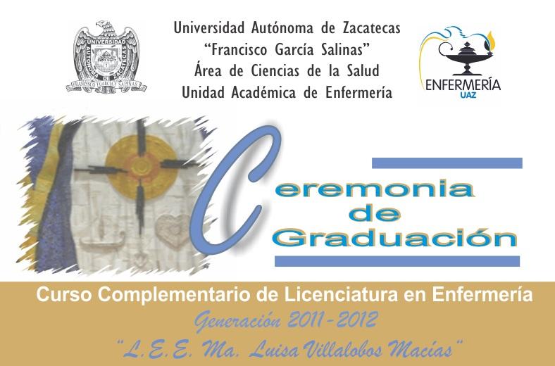 Enfermería UAZ - INVITACION A GRADUACION