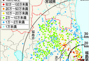 Article just published map dose radioactive contamination of tellurium and silver