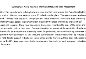 Summary of Naval Reactors Warm and Hot Zone Dose Assessment