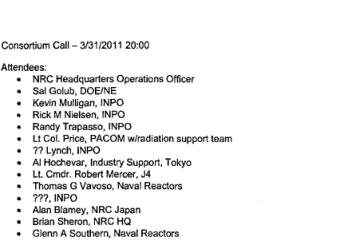 March 31st, 2011 - Notes from the Consortium Call at 2000