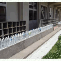 Elementary school in Japan using water bottles to shield students from radiation