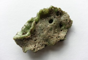 A sample of Trinitite analyzed with gamma spectroscopy equipment.