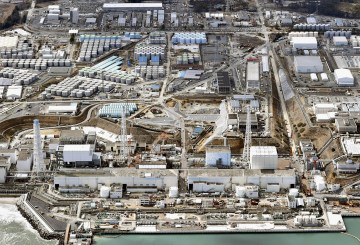 An aerial view of Tokyo Electric Power Co.'s tsunami-crippled Fukushima Dai-ichi nuclear power plant on March 11.