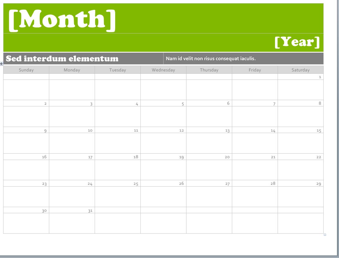 2015 calendar template word 2010 Template – Word Template Calendar 2015