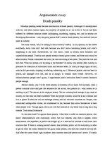 Essay on death