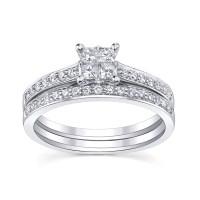 Bridal Sets: Princess Cut Diamond Bridal Sets