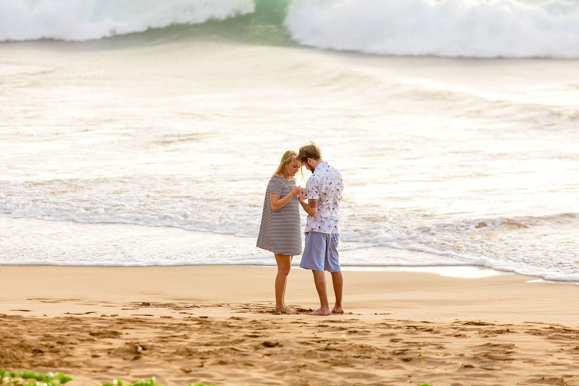 Romantic Beach Picnic Proposal Cody Alexus Engaged
