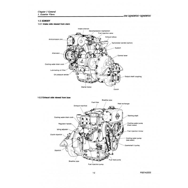 yanmar diesel engine parts diagram