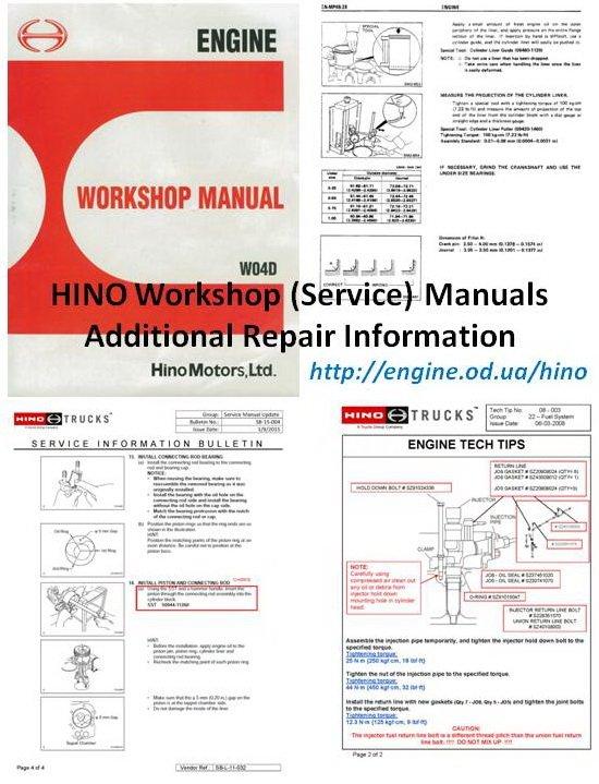 HINO engine Manuals  Parts Catalogs
