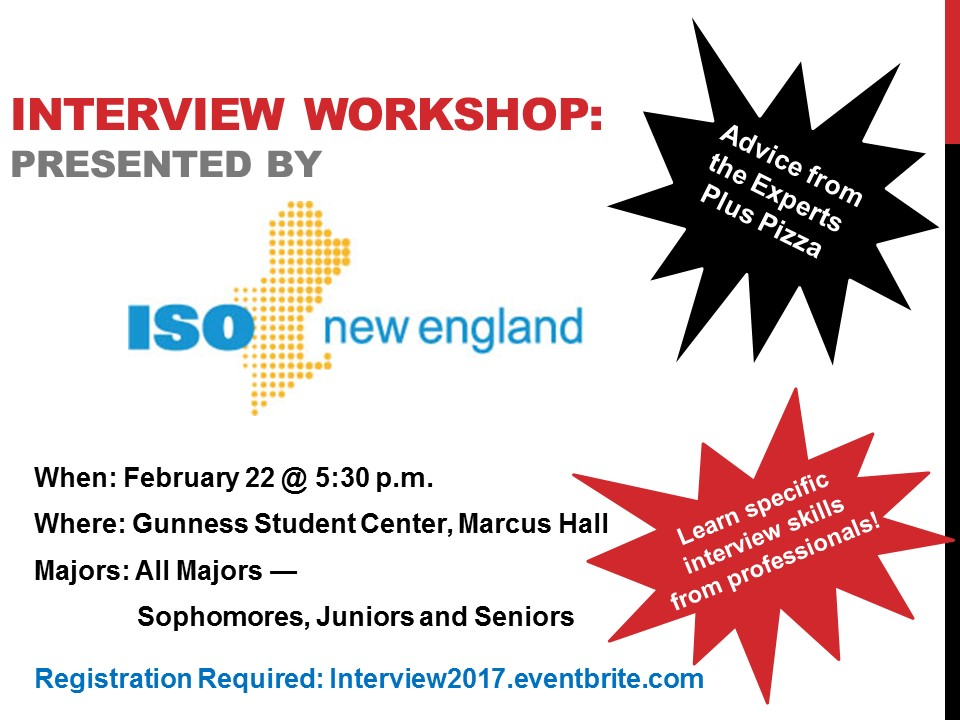 Interview Workshop, Presented by ISO New England College of