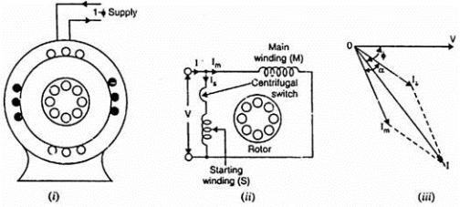 split phase motor schematic
