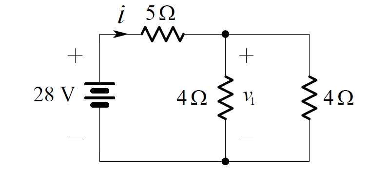 voltage divider rule for the series parallel circuit
