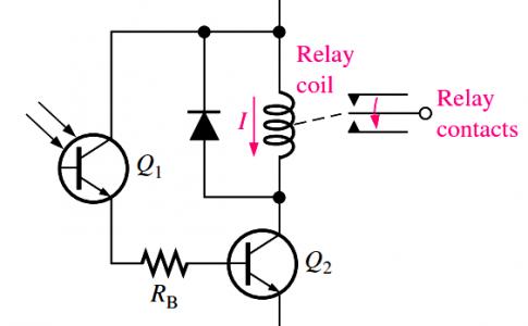 infrared phototransistor circuit