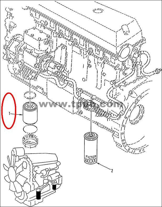 small engine fuel filters flow of direction