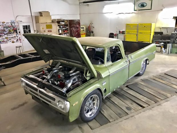 1970 Dodge Truck with Two Twin-Turbo Cummins Inline-Six Engines