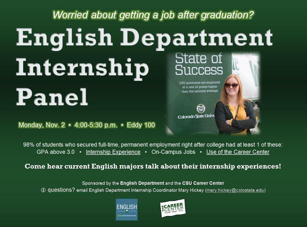 Internships Now and Jobs After Graduation - English Colorado State
