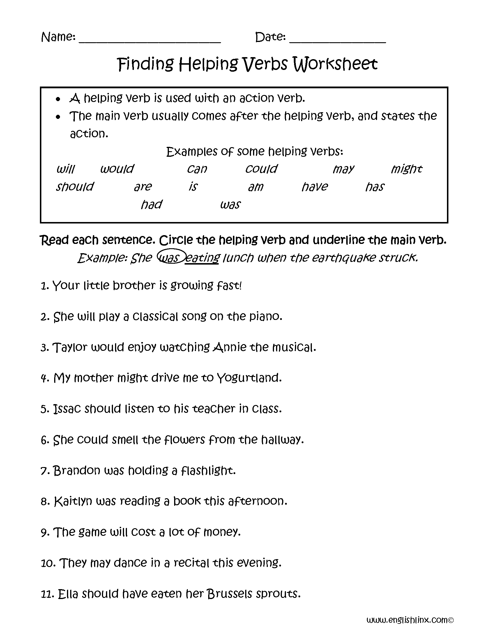 Subject And Verb Agreement Worksheets For 4th Grade – Subject and Verb Worksheets