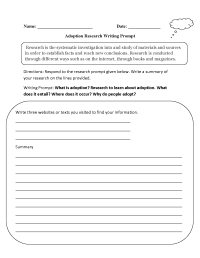 Writing Prompts Worksheets | Research Writing Prompts ...
