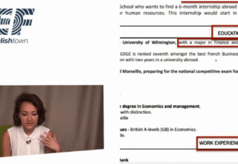 jobteaser cv english